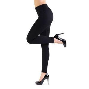 BETSEY JOHNSON Fleece-Lined black leggings